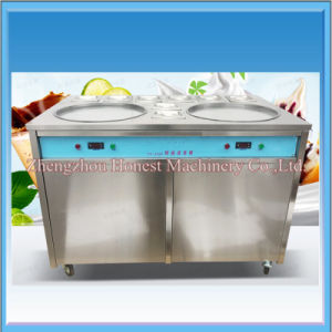 Thailand Style Roll Fry Ice Cream Machine with Flat Table pictures & photos