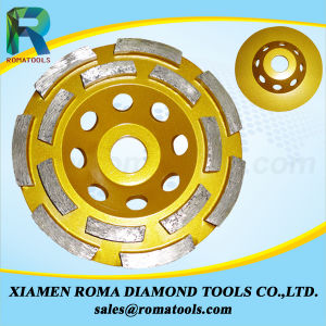 Romatools Diamond Cup Wheels Double Row for Stone/Floor Grinding pictures & photos