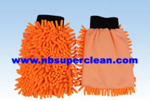 Microfiber Chenille Car Washing Cleaning Gloves (CN1411) pictures & photos