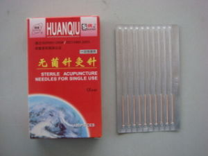 0.25X75mm Acupuncture Needle Without Tube, Silver/Copperr Handle - Huanqiu Brand pictures & photos