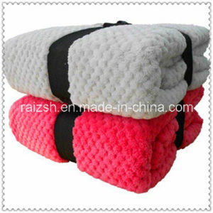 2016 Fashion Patterm Solid Softness Coral Fleece Baby Blanket pictures & photos