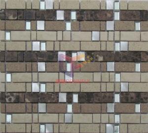 Glass Mix Stone Mosaic Tile (CS226) pictures & photos