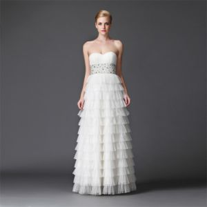 Wholesale Nanbinfashion Open Front Ladies Western Long Evening-Wedding Dress