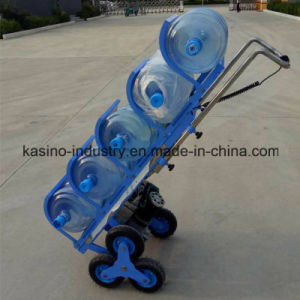 Foldable Electric Stair Climbing Hand Trolley for 5 Gallon Bottled Water pictures & photos