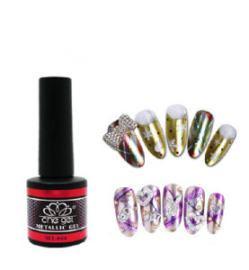 2016 New Hot Sale Professional Nail Art 8ml Metallic Color Easy Soak off UV Gel Polish