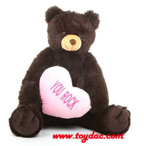 Plush Brown Bear with Heart