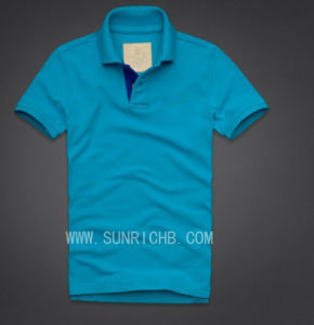 Men′s Cotton Short Sleeve Pique Polo Shirt (PTS04003) pictures & photos