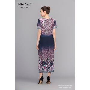Miss You Ailinna 100854 Digital Printed Dress Distributor Crumple Long Dress pictures & photos