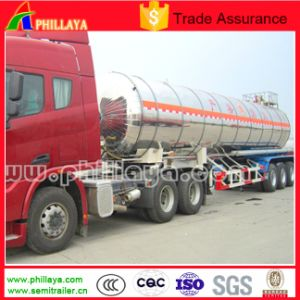 Tri-Axle Stainless Steel Fuel Oil Petrol Tank Semi Trailer Tanker pictures & photos