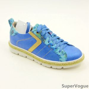 Three Color Fashion Leisure Women Lady Sport Sports Shoes with Flax Ab17s08-003-Blue pictures & photos