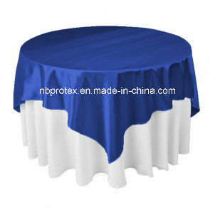 High Quality Royal Blue Satin Wedding Decorations Overlay pictures & photos