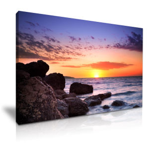 China The Sea Of Sunrise Acrylic Painting For Home Wall