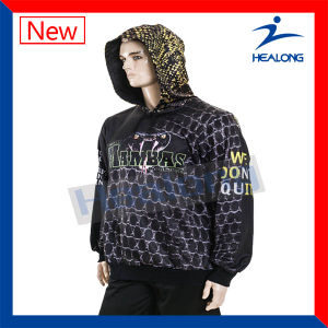 Healong Latest Full Dye Sublimation Plain Hoodie with High Quality pictures & photos