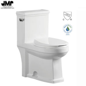 2164 Sanitary Ware Cupc Bathroom Single Flush Siphonic One Piece Ceramic Toilet pictures & photos