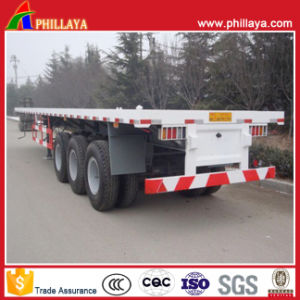 Transport 40ft Container Platform Semi Truck Trailer for Sale pictures & photos