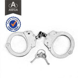 Carbon Steel & Nickel Plated Police Handcuff pictures & photos