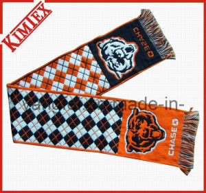 Promotional 100% acrylic Single Layer Knitted Woven Jacquard Scarf pictures & photos