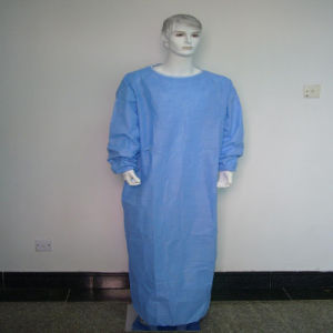Disposable SMS Non-Woven Hospital Gown/Surgical Gown pictures & photos