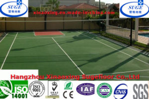 Flat Surface Anti Static Green Basketball Court Flooring pictures & photos
