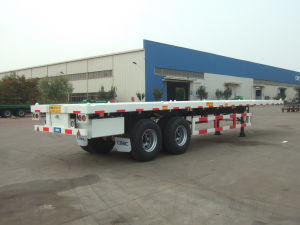 40ft Flatbed Trailer with Bogie Suspension pictures & photos