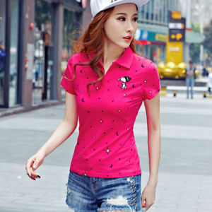 Guangzhou High Quality Summer Casual Style Custom Womens Polo Shirt pictures & photos