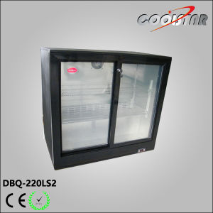 Sliding Tempered Glass Doors Back Bar Bottle Cooler (DBQ-220LS2) pictures & photos