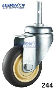 4inch Zinc Plated Medical Swivel Grip Ring Stem Trolley Castor