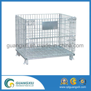 Collapsible Welded Metal Wire Mesh Hanging Container pictures & photos