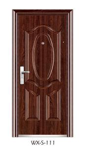 Steel Security Door (Wx-S-111 pictures & photos