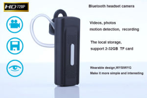 Headset Camera Bluetooth Mini Digital Camera Video, Audio Recording Motion Detection K8 pictures & photos