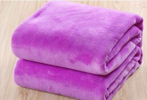 Solid Violet Beautiful Coral Fleece Blanket, Baby Blanket pictures & photos