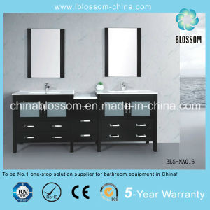 Modern Painting Bathroom Vanity MDF Wooden Bathroom Cabinet (BLS-NA016) pictures & photos