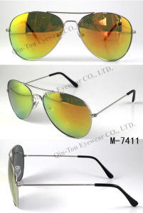 Hot High Quality Fashion Metal Sunglasses with UV400 CE Polarized (M-7411)