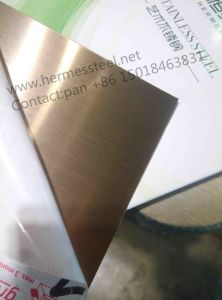 201 304 Color Rose Hairline Decorative Stainless Steel En Sheet Plate pictures & photos