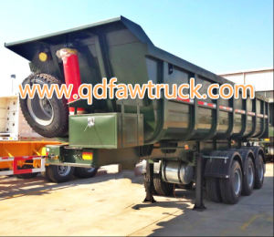 Hot Selling Chinese 2/3 axles Self Dump Semi trailer pictures & photos
