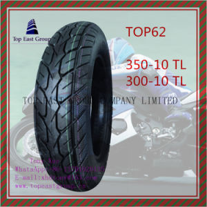 Tubeless, Long Life, ISO Nylon 6pr Motorcycle Tyre 350-10tl, 300-10tl pictures & photos