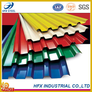 Ibr Color Corrugated Steel Sheet/ Zinc Roofing Sheet 750mm/26 Gague Trapezodial Roofing Sheet pictures & photos