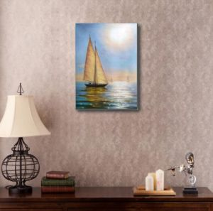 Hand-Made Oil Painting of Sailing pictures & photos