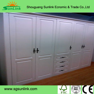 Custom Made High Glossy Wooden Kitchen Cabinet Door (ZHUV factory) pictures & photos