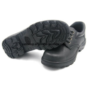 S1p Rubber Outsole Split Leather Safety Shoes with Low Price pictures & photos