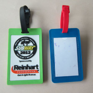 Customized Tag Soft PVC/Rubber Luggage Tag pictures & photos