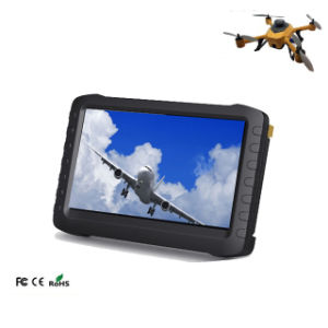 Built in Battery Powered 1.2g/2.4G/5.8GHz 5 Inch Portable Fpv Monitor Video Audio Receiver pictures & photos