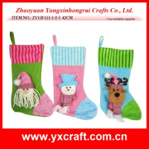 Christmas Decoration (ZY13F111-1-2-3) Christmas Tree Stocking Decoration pictures & photos