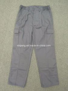 Safety Cargo Pants with Side Pocket Spain Market Design 6pockets pictures & photos