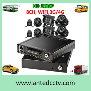 Shuttle Bus DVR 4/8 Channel HD 1080P GPS WiFi HDD 3G 4G Live Monitoring pictures & photos