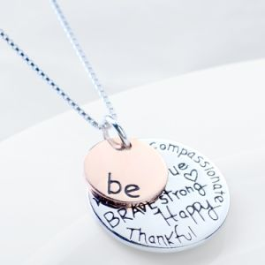 925 Sterling Silver Necklace Personalized Jewelry Inspiring Message Pendant Necklace Fashion Jewelry for Women pictures & photos