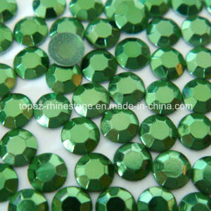 Faceted Hotfix Rhinestuds Iron on Round Beads Aluminum Metal Art Stud pictures & photos