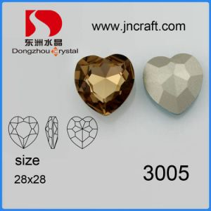 28*28mm Heart Crystal Fancy Stone Jewelry Components pictures & photos