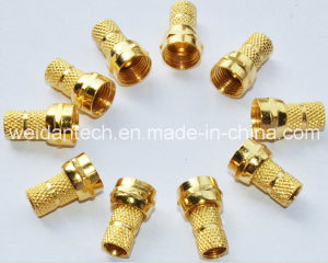 Gold Plated, Rg59 F Plug Connector pictures & photos