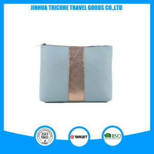 Popular and Hot Sale PU Material with Trim Decoration Makeup Bag or Handbag pictures & photos